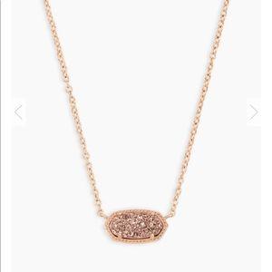 Kendra Scott Elisa Pendent Necklace In Rose Gold